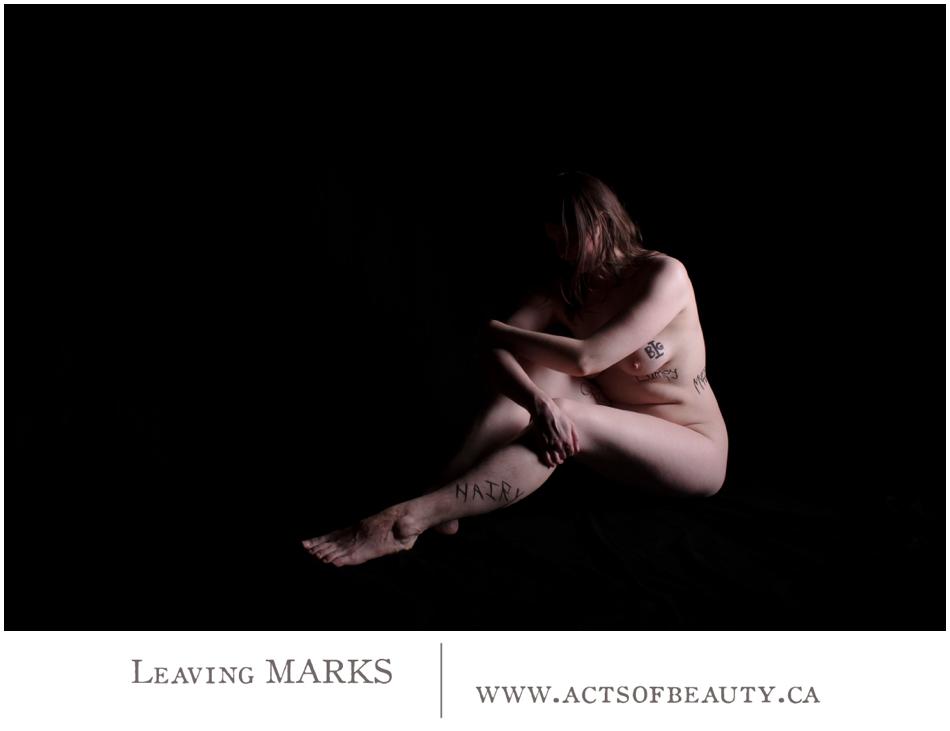 eaving Marks Nude Art words
